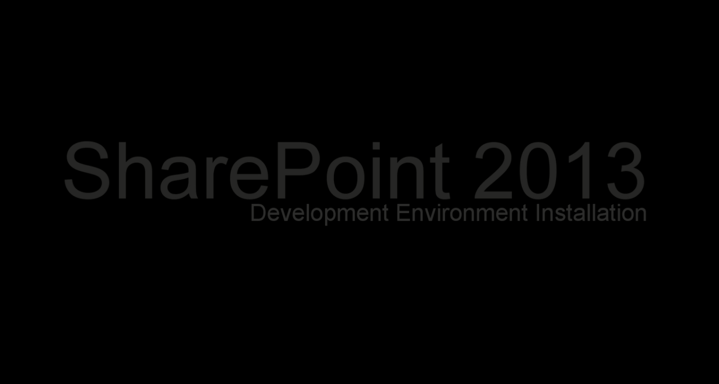 SharePoint2013DevEnvInst